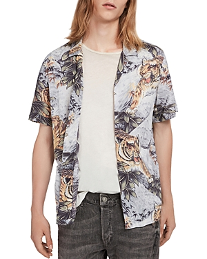 Allsaints Chokai Short Sleeve Camp Shirt