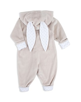 Livly - Unisex Velour Hooded Romper with Bunny Ears - Baby