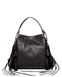 COACH - Edie Leather & Suede Tassel Shoulder Bag