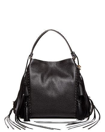 COACH - Edie Leather   Suede Tassel Shoulder Bag fd8a865cc40c5