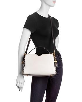 COACH - 1941 Laurel Color-Block Leather & Snakeskin Frame Bag