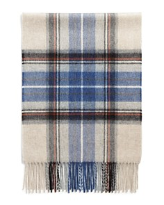 The Men's Store at Bloomingdale's Exploded Tartan Cashmere Scarf_0