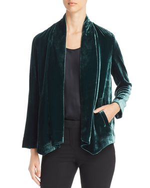 Eileen Fisher Velvet Open Jacket