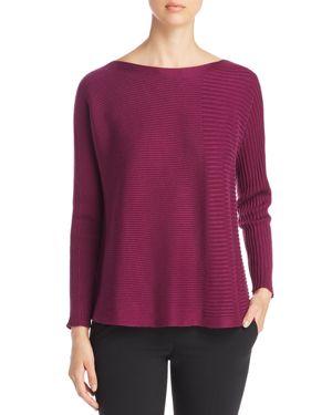 Eileen Fisher Petites Mixed Rib Sweater