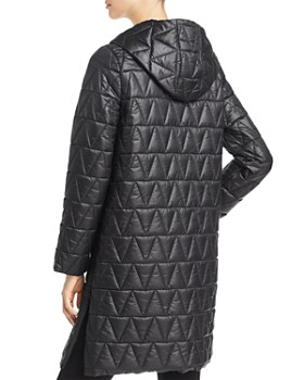 Eileen Fisher Petites - Hooded Quilted Coat