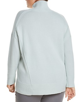 Lafayette 148 New York Plus - Cashmere Relaxed Turtleneck Sweater