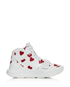 Burberry - Women's Heart Print Sneakers