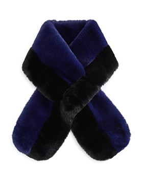 Echo - Color-Block Faux Fur Scarf
