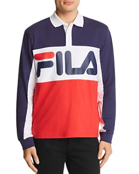 FILA - Moris Logo-Print Color-Block Rugby Shirt - 100% Exclusive