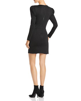 Alice and Olivia - Judy Ruched Puff-Sleeve Dress