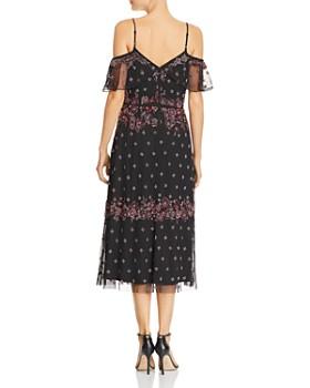 Adrianna Papell Embellished Cold Shoulder Dress