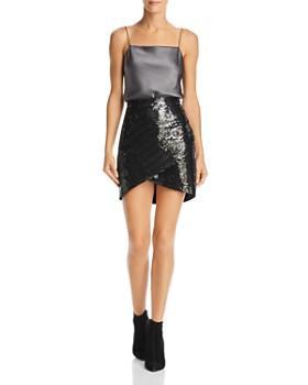 Alice and Olivia - Fidela Sequined Mini Skirt