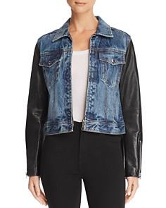 rag & bone/JEAN - Nico Denim & Leather Jacket
