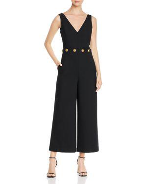 Fremont Embellished Wide-Leg Jumpsuit in Black