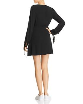Re:Named - Babi Button-Down Tie-Detail Mini Dress