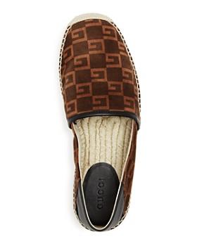 Gucci - Men's Nubuck Leather Logo Espadrilles