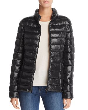 AQUA Packable Puffer Coat - 100% Exclusive in Black