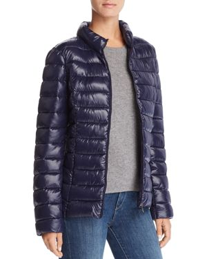 AQUA Packable Puffer Coat - 100% Exclusive in Navy