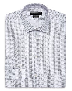 John Varvatos Star USA - Scattered Print Regular Fit Dress Shirt