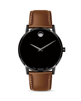 Movado - Museum Classic Brown Leather Strap Watch, 40mm