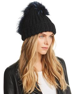 fa4c525d0a7 Rain Fox Fur Pom-Pom Metallic Beanie. Recommended For You (11). Eugenia Kim