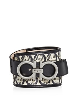 Salvatore Ferragamo - Men's The Gancini Jacquard & Leather Belt