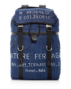 Salvatore Ferragamo - Tessuto Denim Backpack