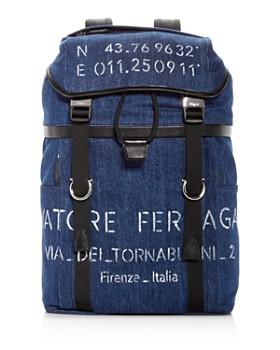 Salvatore Ferragamo - Tessuto Denim Backpack