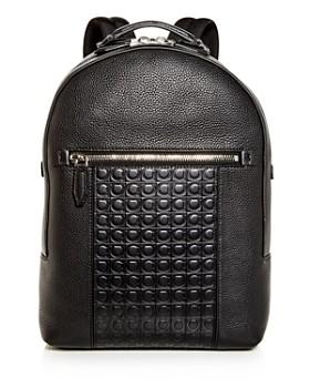 Salvatore Ferragamo - Firenze Gamma Embossed Leather Backpack