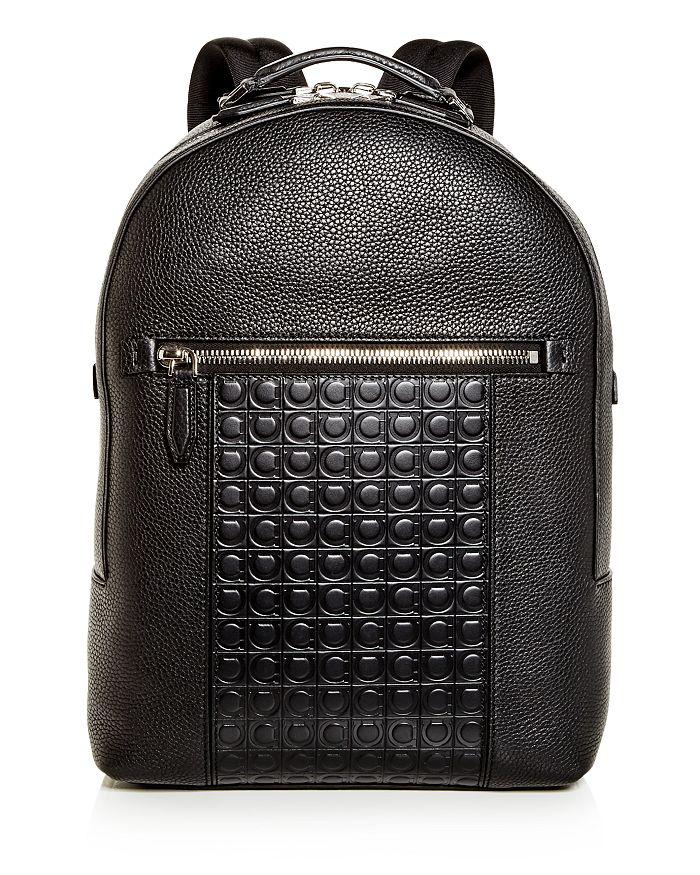 a2c84a22126d Salvatore Ferragamo Firenze Gamma Embossed Leather Backpack ...