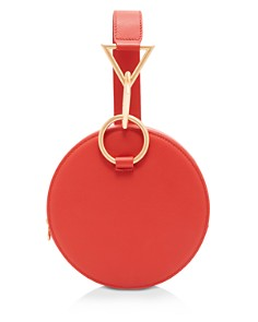 Tara Zadeh - Medium Round Leather Clutch