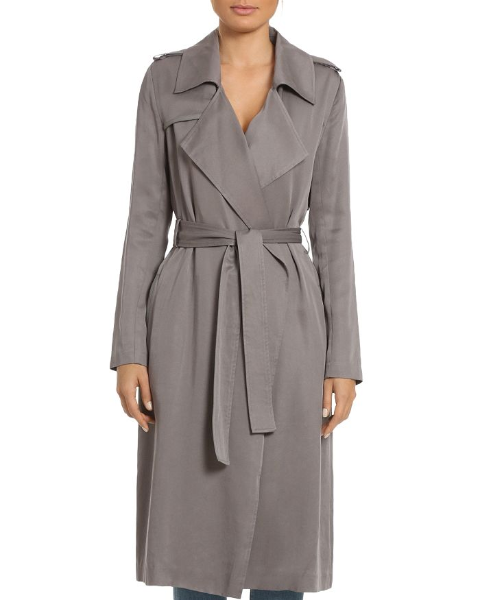 4c8a53d3a20 Badgley Mischka Angelina Belted Trench Coat | Bloomingdale's