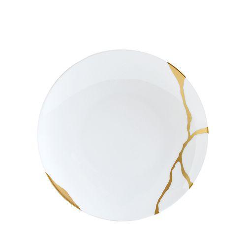 Bernardaud - Kintsugi-Sarkis 24K Gold Coupe Salad Plate