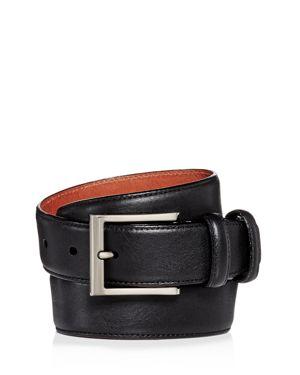 TRAFALGAR Corvino Double-Keeper Leather Belt in Black