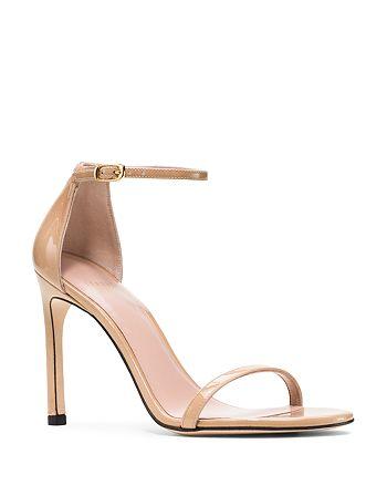 Stuart Weitzman - Women's Nudistsong Patent Leather High-Heel Sandals