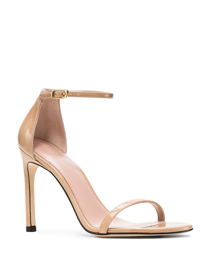 Stuart Weitzman - Women's Nudistsong Patent Leather High-Heel Sandals