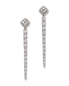 Bloomingdale's - Diamond Linear Drop Earrings in 14K White Gold, 1.55 ct. t.w. - 100% Exclusive