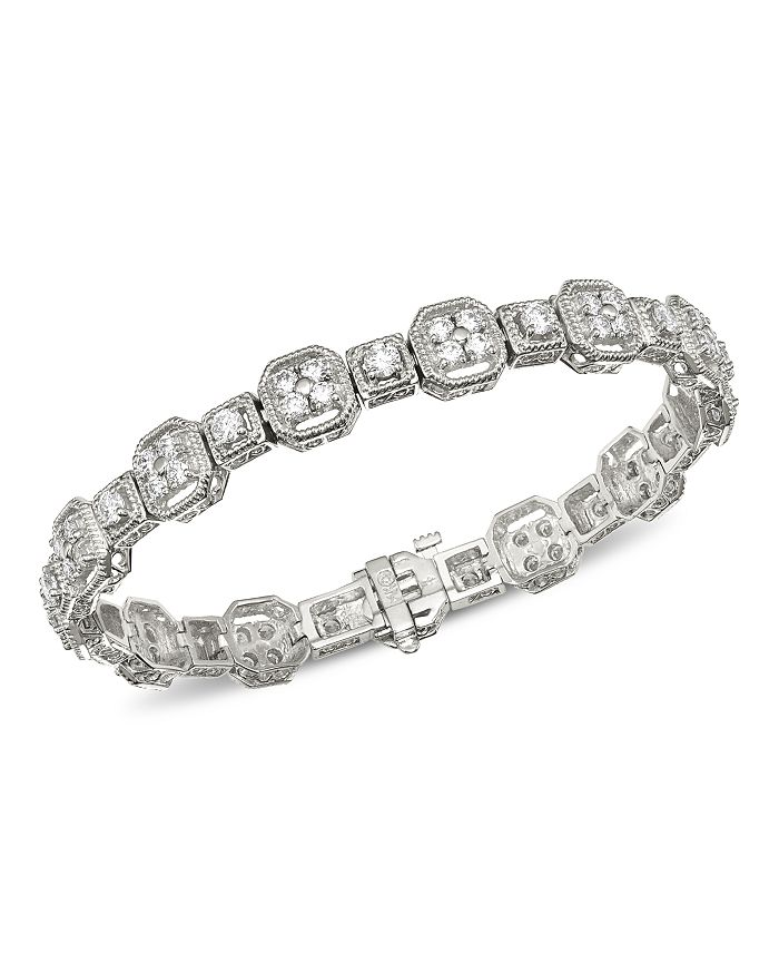 Bloomingdale's - Diamond Milgrain Bracelet in 14K White Gold, 4.0 ct. t.w. - 100% Exclusive