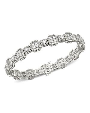 Bloomingdale's Diamond Milgrain Bracelet in 14K White Gold, 4.0 ct. t.w. - 100% Exclusive