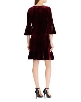Ralph Lauren - Ruffle-Trimmed Velvet Dress