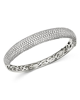 Bloomingdale's - Pavé Diamond Bangle in 14K White Gold, 5.0 ct. t.w. - 100% Exclusive