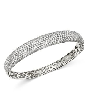 Bloomingdale's Pave Diamond Bangle in 14K White Gold, 5.0 ct. t.w. - 100% Exclusive