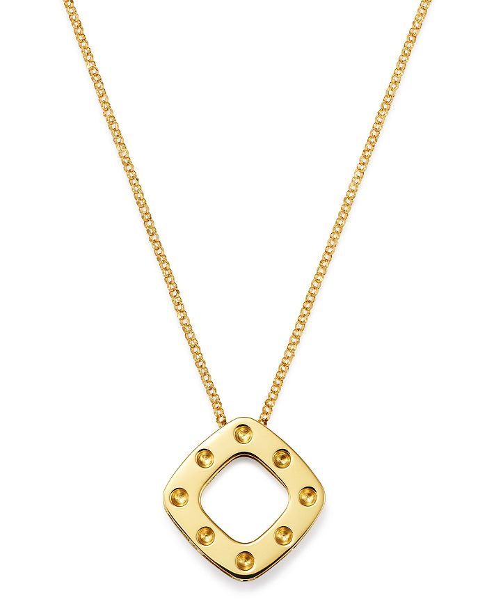 Roberto Coin - 18K Yellow Gold Pois Moi Pendant Necklace, 18""