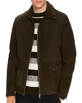 Scotch & Soda - Faux Shearling-Trimmed Suede Military Jacket