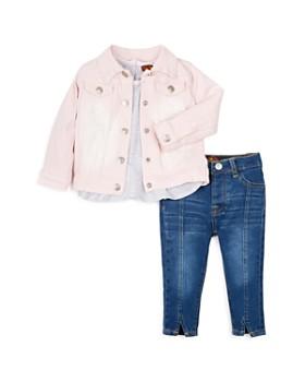 7 For All Mankind - Girls' Shirt, Jeans & Denim Jacket Set - Baby