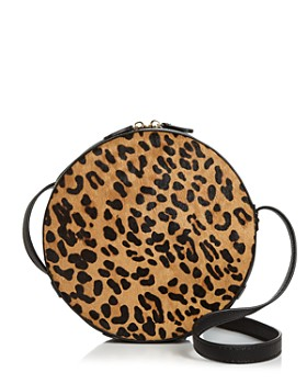 AQUA - Medium Leopard-Print Calf Hair Crossbody - 100% Exclusive