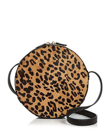 AQUA - Medium Leopard-Print Calf Hair Crossbody - 100% Exclusive
