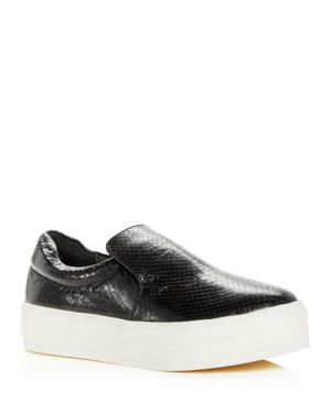 Harry Slip-On Sneaker, Black Embossed Leather