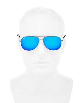 Maui Jim - Men's Cinder Cone Polarized Mirrored Brow Bar Aviator Sunglasses, 58mm