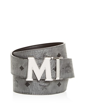 MCM - Claus Engraved Logo Buckle Reversible Belt
